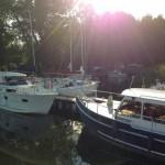 Hausboote Masuren,Hafen Tabat in Masuren